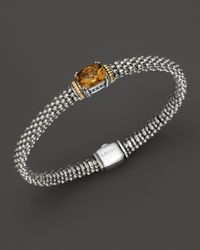 Lagos | Metallic 18k Green Gold And Sterling Silver Prism Citrine Rope Bracelet | Lyst