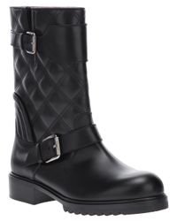 Marc Jacobs - Black Quilted Double Buckle Boot - Lyst