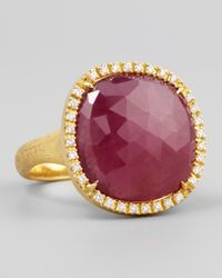Marco Bicego | Purple Siviglia 18k Pink Sapphire Ring Large | Lyst