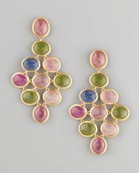 Marco Bicego   Metallic Siviglia 18k Large Sapphire Chandelier Earrings   Lyst