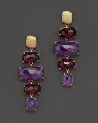 Marco Bicego | Purple Murano Amethyst And Garnet Earrings | Lyst