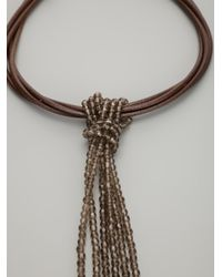 Brunello Cucinelli | Brown Tassle Chain Necklace | Lyst
