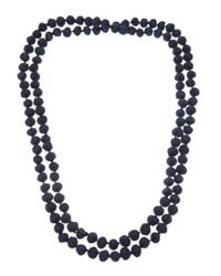 Dosa - Black Knotted Bead Necklace - Lyst