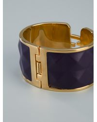 Fendi - Metallic Logo Cuff - Lyst