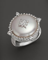 Judith Ripka - Metallic Laguna Cultured Coin Pearl Ring with White Sapphires - Lyst