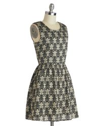 ModCloth | Black Revved To Redecorate Dress | Lyst