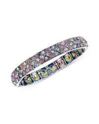 Steve Madden - Multicolor Multi-Color Crystal Stretch Bracelet - Lyst