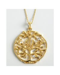 BCBGMAXAZRIA | Metallic Gold Tree Cut Out Pendant Necklace | Lyst