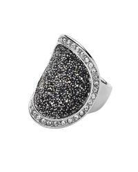 Dyrberg/Kern - Metallic Carly Shiny Silver Grey Ring - Lyst