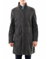 Fendi | Gray Shearling Coat for Men | Lyst
