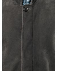 Fendi | Gray Shearling Coat for Men | Lyst