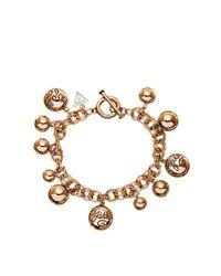 Guess | Pink Bauble Charm Bracelet | Lyst