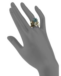 Ippolita - Metallic Multi Gemstone and 18k Yellow Gold Cluster Ring - Lyst