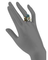 Ippolita | Metallic Multi Gemstone and 18k Yellow Gold Cluster Ring | Lyst