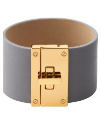 Jaeger | Gray Leather Cuff | Lyst