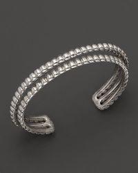John Hardy - Metallic Bedeg Silver Three Row Cuff - Lyst