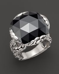 John Hardy - Metallic Batu Classic Chain Silver Large Braided Ring With Hematite - Lyst