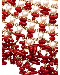 Rosantica - Red Papavero Pearl Coral Necklace - Lyst