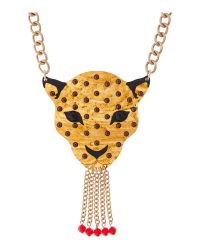 Tatty Devine | Black Leopard Necklace | Lyst