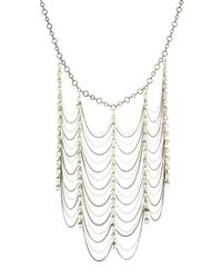 Adia Kibur | Metallic Rhinestone Mixed Chain Necklace | Lyst