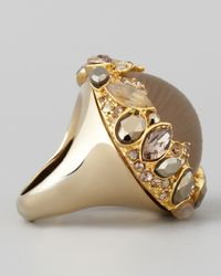 Alexis Bittar - Gray Neo Boho Marquise Ring with Pave Trim - Lyst