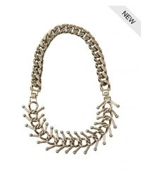AllSaints | Metallic Medulla Necklace | Lyst