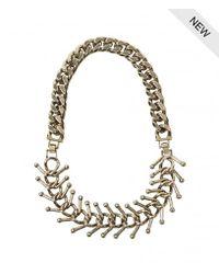 AllSaints | Metallic Medulla Necklace | Lyst