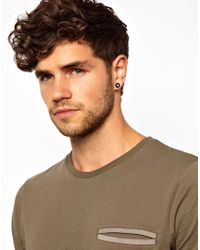 ASOS - Black Earrings with 8 Balls for Men - Lyst