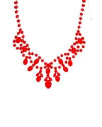 ASOS - Orange Premium Jewelled Bib Necklace - Lyst