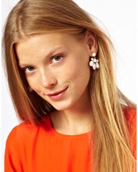 ASOS - White Opaque Chandelier Earrings - Lyst