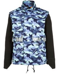 Bernhard Willhelm | Blue Camouflage Jacket for Men | Lyst