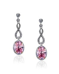 Carat* | Fancy Pink Twist Oval Earrings | Lyst