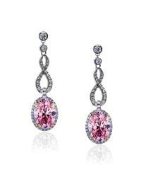 Carat* - Fancy Pink Twist Oval Earrings - Lyst