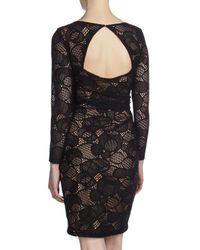 David Meister - Crochet Lace Openback Sheath Dress Black - Lyst