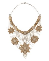 Deepa Gurnani | Pink Flower Bib Necklace | Lyst