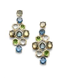 Ippolita - Multicolor Multi Gemstone and 18k Yellow Gold Chandelier Drop Earrings - Lyst