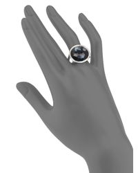 Ippolita - Metallic Stella Hematite, Clear Quartz, Diamond & Sterling Silver Medium Doublet Cocktail Ring - Lyst