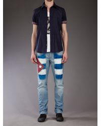 Jeckerson | Blue Straight Leg Jean for Men | Lyst