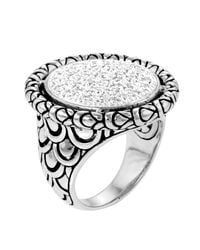 John Hardy | Metallic Large Diamond Pave Ring | Lyst