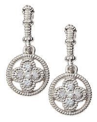 Judith Ripka | Metallic Berge Clover-drop Earrings | Lyst