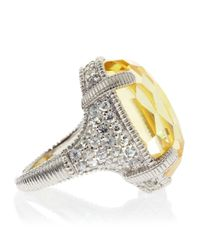 Judith Ripka - Metallic Glacier Canary Crystal Pave Ring - Lyst