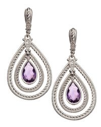 Judith Ripka | Metallic Marina Large Amethyst Earrings | Lyst