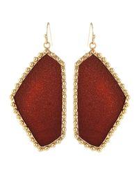 Kendra Scott - Red Flat Freeform Earrings Goldstone - Lyst