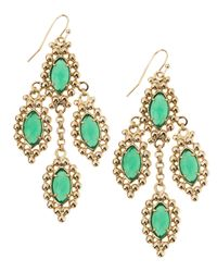 Kendra Scott - Fiona Beadset Chandelier Earrings Green - Lyst