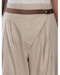 Matthew Williamson - Natural Cropped Peg Trouser - Lyst