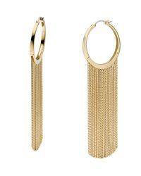 Michael Kors | Metallic Hoop Fringe Earrings Golden | Lyst