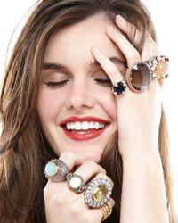 Oscar de la Renta - Purple Twofacet Ring - Lyst