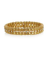 Philippe Audibert - Metallic Petit Amelia Goldplated Crystal Bracelet - Lyst