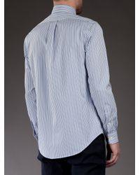 Polo Ralph Lauren | Blue Striped Shirt for Men | Lyst