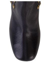 Roberto Cavalli - Black Leather Stud Knee High Boots - Lyst